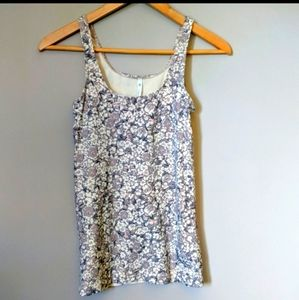 Aritzia t. babaton Bowie Floral Second Skin Tank M